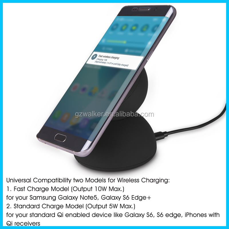 fast wireless charger qi wireless charger for Samsung wireless rechargeable mobile phone battery charger