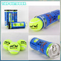 3pcs Can Natural Rubber High ElasticTennis Balls Professional Training Game Chemical Fiber Needled Good Waterproof
