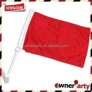 Great Selling Solid Red Car Flags Antenna Flags Car Flag