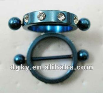 Stainless steel nipple stretcher piercing nipple jewelry for Pierced nipple stretching jewelry