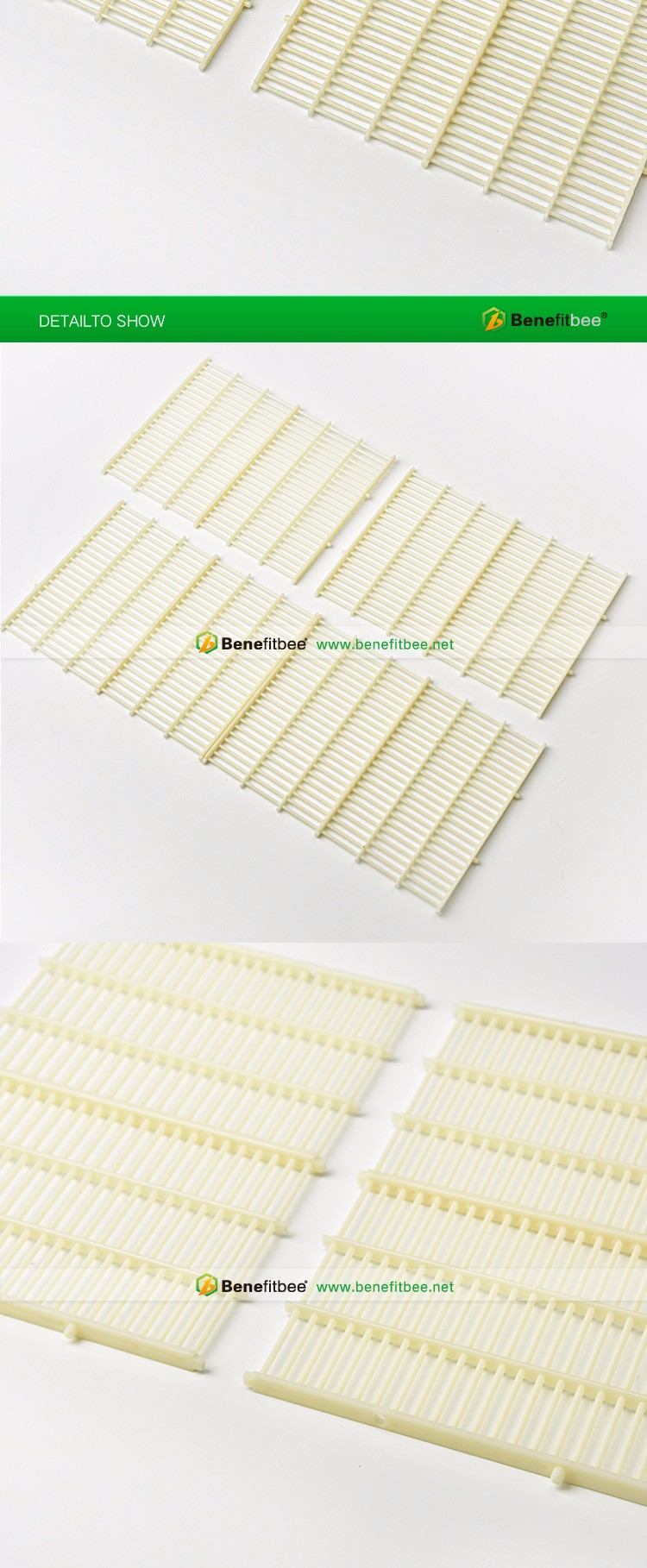 170*225mm bee beehive frame plastic vertical queen excluder