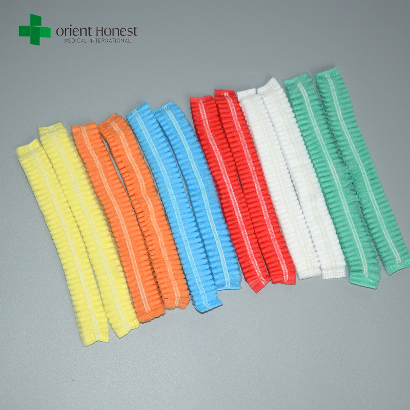 Multicolor selection surgical disposable non woven bouffant cap clip for medical usage