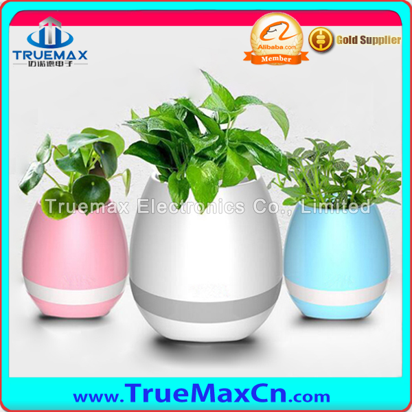 2017 New Arrival Gift Waterproof Bluetooth Speaker Smart Music Flowerpot