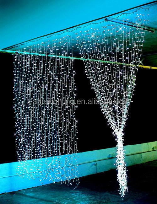 led kerstverlichting buiten waterval verlichting gordijnen