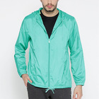 Lightweight solid color hooded jackets men summer waterproof coach jacket