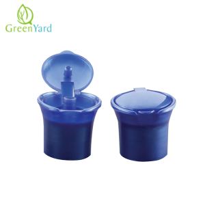 Plastic flip top cap 28 410 for shampoo bottle
