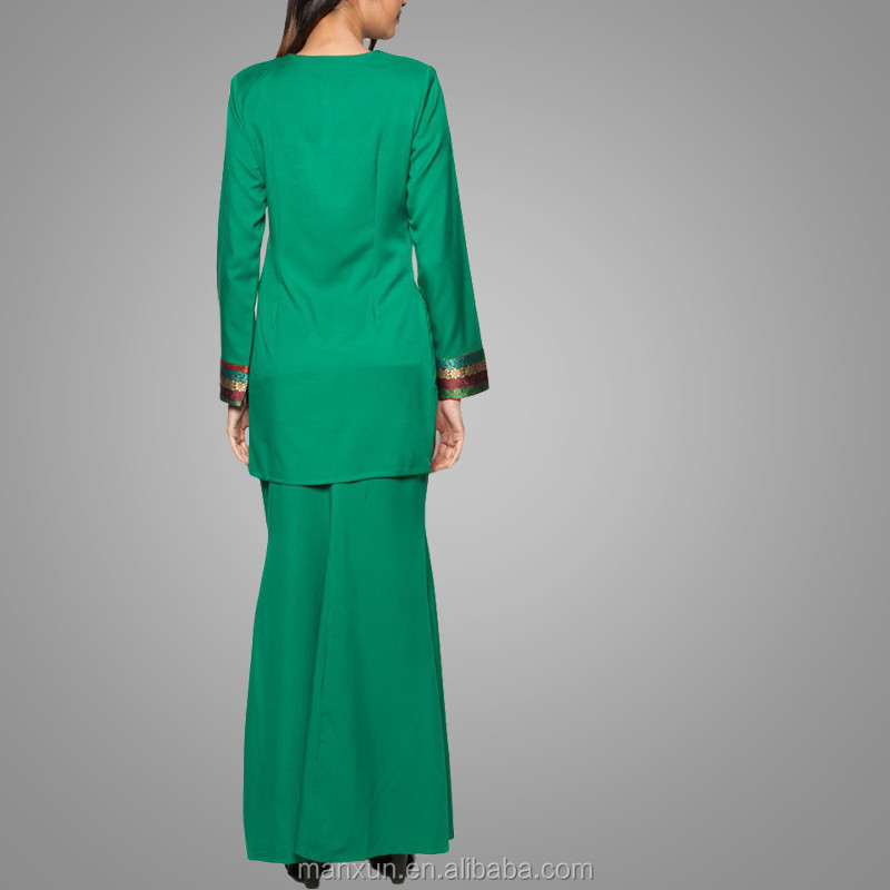 Wholesale Fashion Green Beaded Mermaid Latest Kebaya
