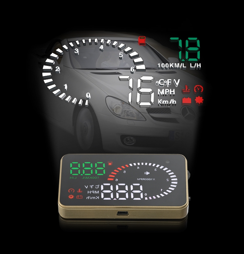 MIni Size Reach Functions 3.5 Inch HUD Head Up Display