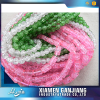 New design colored round loose glass beads for bracelet bulk