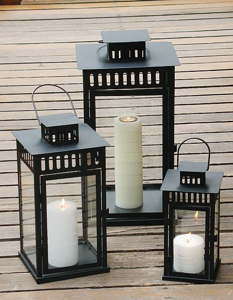 3pcs home&garden large candle lantern