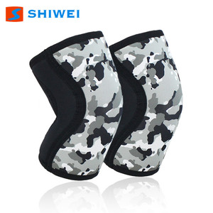 SHIWEI-906#7mm camouflage knee support protector for Heavy Weightlifting Training