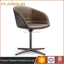 Replica furniture PearsonLloyd bucket seats Kyo Side Chair with Titanium coating finish stainless steel legs