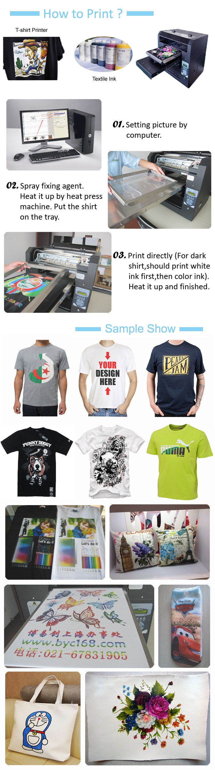 Prices List Promotional Direct To Garment A3 Digital T Shirt