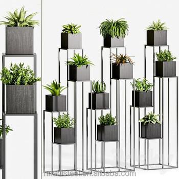 Vertical Galvanized Steel Garden Wall Hanging Pocket Planters Buy