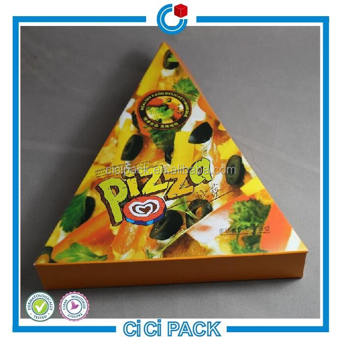 Take away brown kraft paper custom pizza box, corrugated box for pizza, triangle pizza hut pizza box