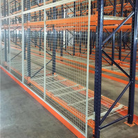 Rack store shelving metal shelf warehouse welded wire mesh deck
