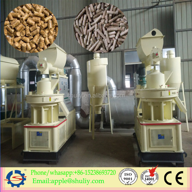 Full-automatic cheap price diesel engine cattle feed pellet machine used