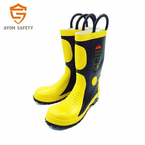 firefighter rubber boots, fire resistant firefighting duty boots, rescue boots for fire fighting protection