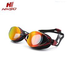 PC lens waterproof UV adjustable strap optical mirror coating swimming goggles