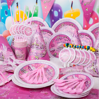 birthday party Disposable tableware set-party kid supplies set