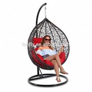 Incredible Outdoor Furniture Garden Set Wicker Rattan Teardrop Swing Chair Ocoug Best Dining Table And Chair Ideas Images Ocougorg