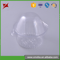 Small clear plastic clamshell cake box Clear Hinged Plastic Square Container