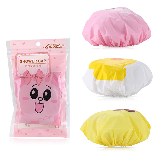 Cute cartoon hair cap waterproof Bath products personalized shower caps