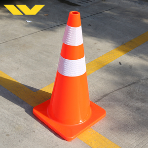 Road Safety Flexible Reflective PVC Traffic Cone 1000mm
