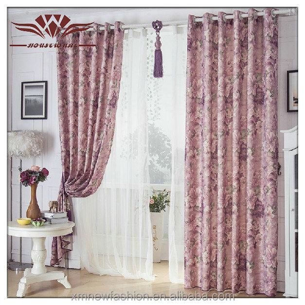 Flora grommet top cotton curtain panel modern design for Window cotton design