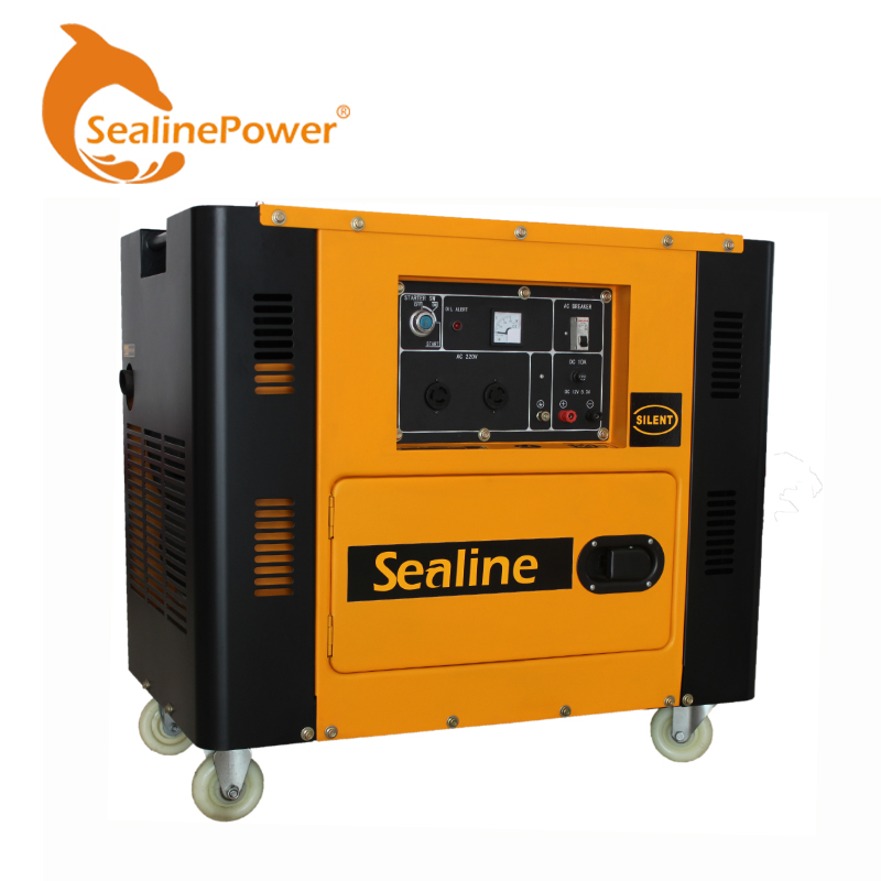 5Kva 220V Electricity Air-cooled Diesel Portable Diesel Generator 5 Kw