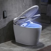 Quality Bathroom Design Porcelain Siphon Jet Commode Smart Bidet Toilet Seat