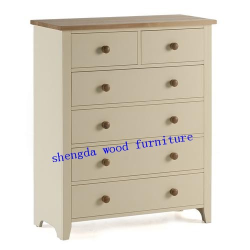 SD-1703 4+2 drawers chest,pine wood ,the bed room set