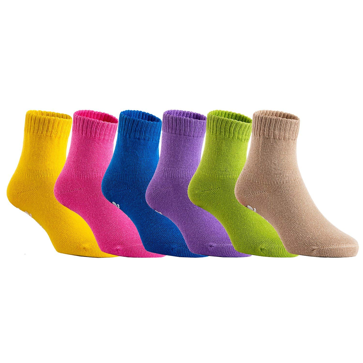 6a4f9f7d5 Get Quotations · AATMart Unisex Baby Toddler 6 Pairs Pack Non Slip Pure Cotton  Socks JH007 Multi Color 0Y