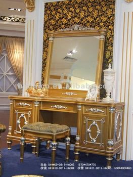 Marvelous Luxury Classic Dresser,dressing Table And Mirror,mirrored Vanity Table ,stool,wooden