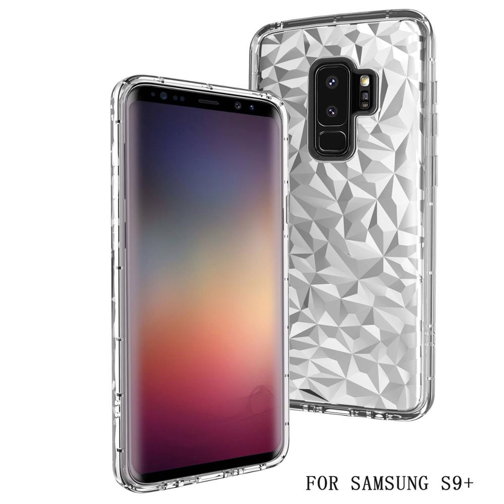Mobile phone <strong>accessories</strong> factory in china tpu pc 3d diamond phone cover case for samsung galaxy s9 plus