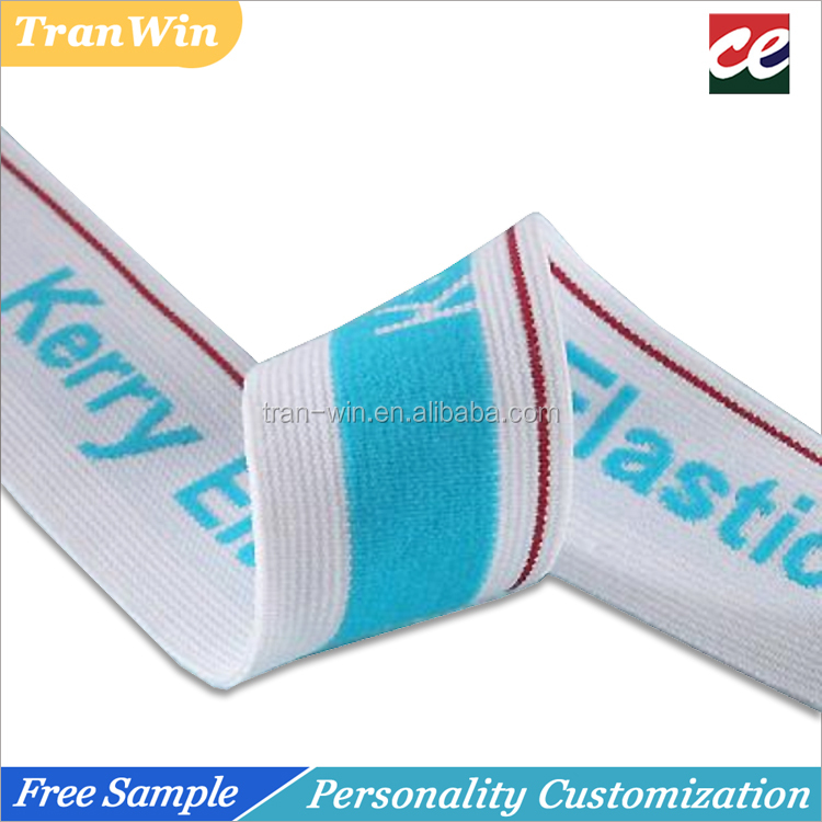 Spandex/polyester wide jacquard elastic band for underwear