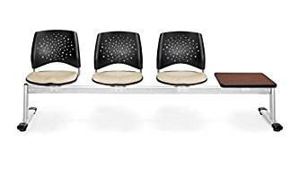OFM 324T-2209-MAH Stars 4-Unit Beam Seating with 3 Seats and 1 Table