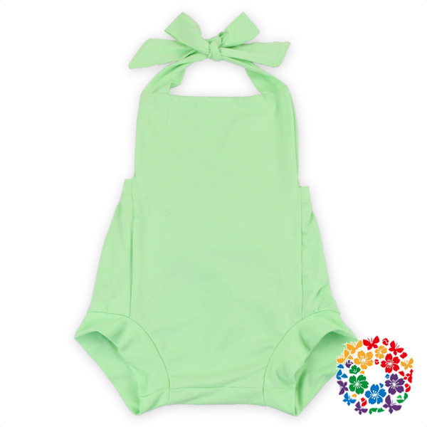2c1600ee154 Mint Green Baby Girl Romper Bottom Shorts Newborn Baby Clothes Soft Cotton Baby  Romper