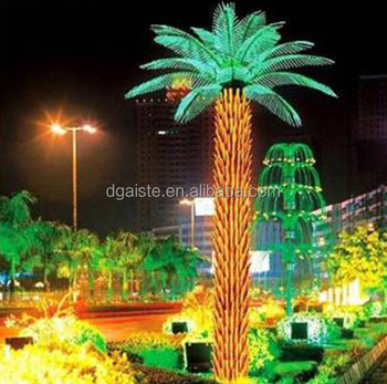 Home garden decorative 750cm height outdoor artificial yellow home garden decorative 750cm height outdoor artificial yellow flashing led solar lighted up date palm trees mozeypictures Images