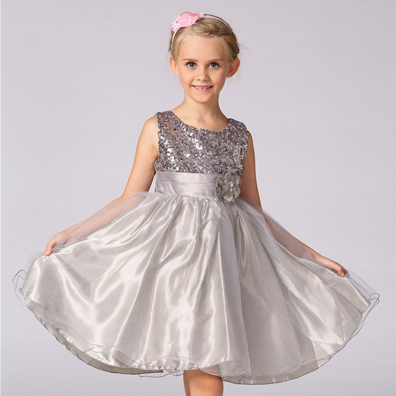 2aec3481c64 Paillette Girl Dress Princess Vestidos Evening Dress For Kids L-100 ...