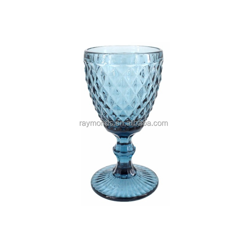 Machine made blue colored goblet