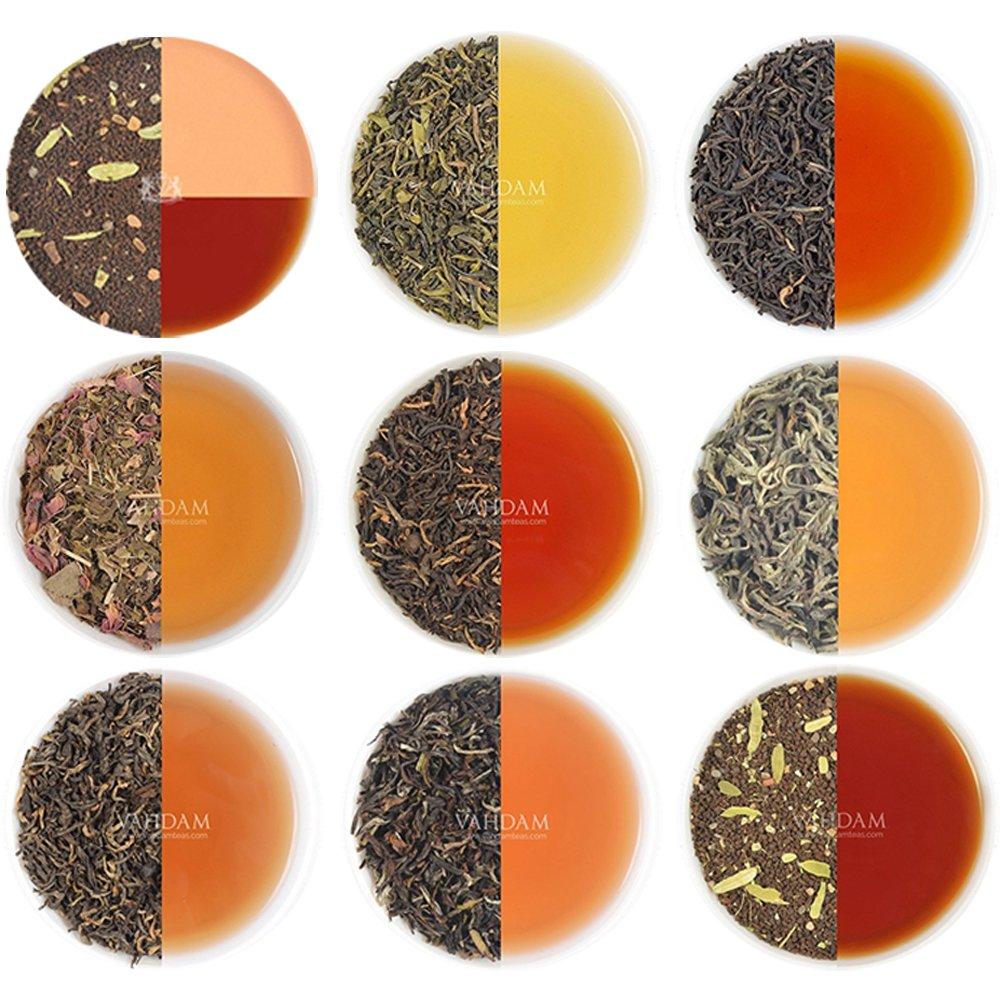 Assorted Loose Leaf Tea - 10 TEAS, 50 SERVINGS - Black Tea, Green Tea, Oolong Tea, Chai Tea, White Tea | BEST SELLING Tea Variety Pack | Hot, Iced, Kombucha Tea | Loose Leaf Tea Sampler Gift Set