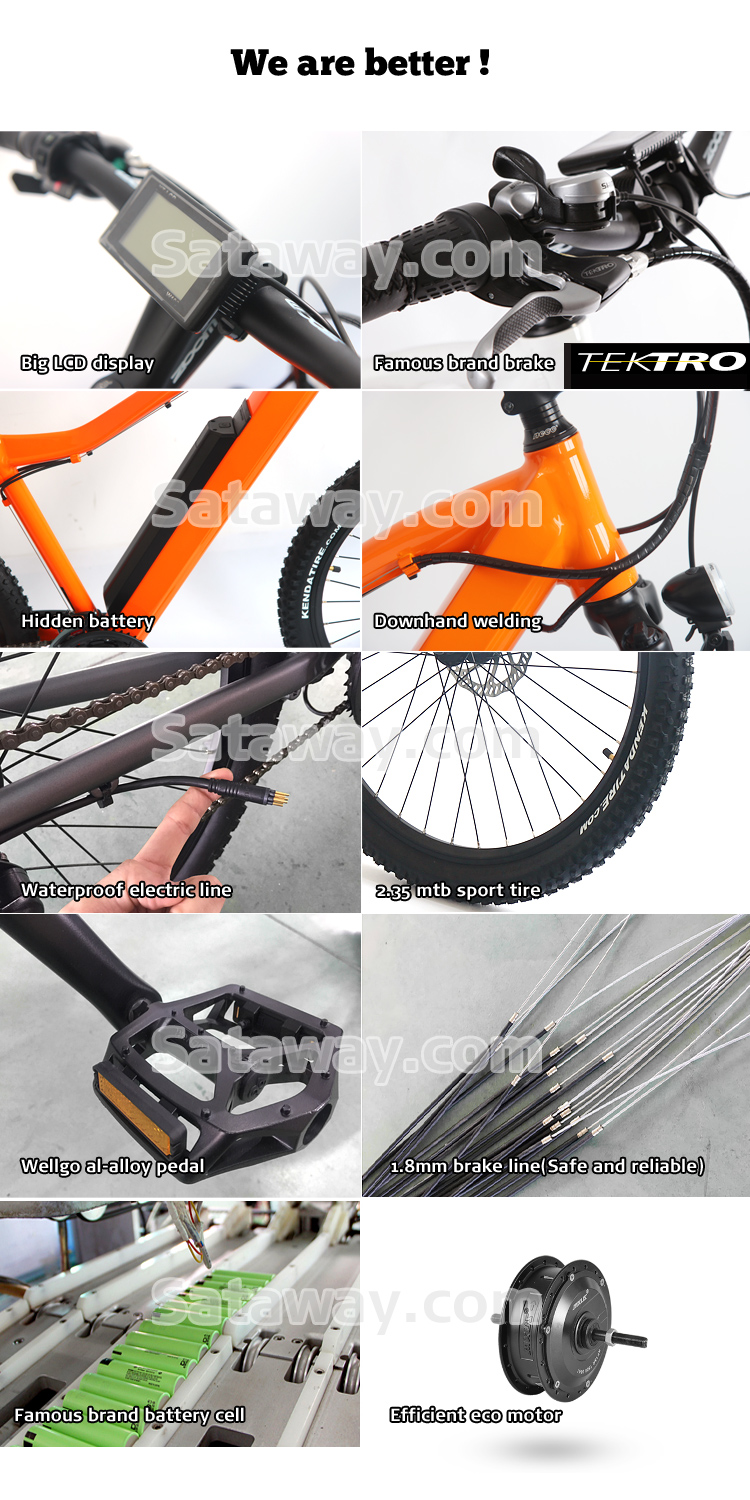 Sataway high quality ebike e-bike mtb electric bicycle electric mountain bike