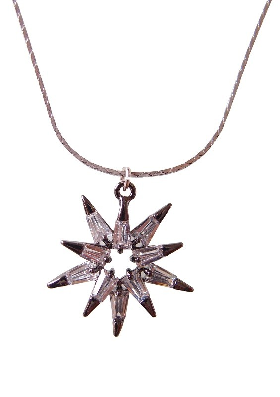Bling Bling Fashion Winter Collection Zirocon Snowflake Pendant Necklace