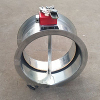 good price smoke line hand electric round motorized flue damper
