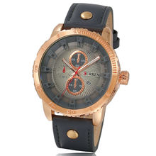 Мужские кварцевые часы CURREN, модные повседневные деловые часы, кварцевые часы(Китай)