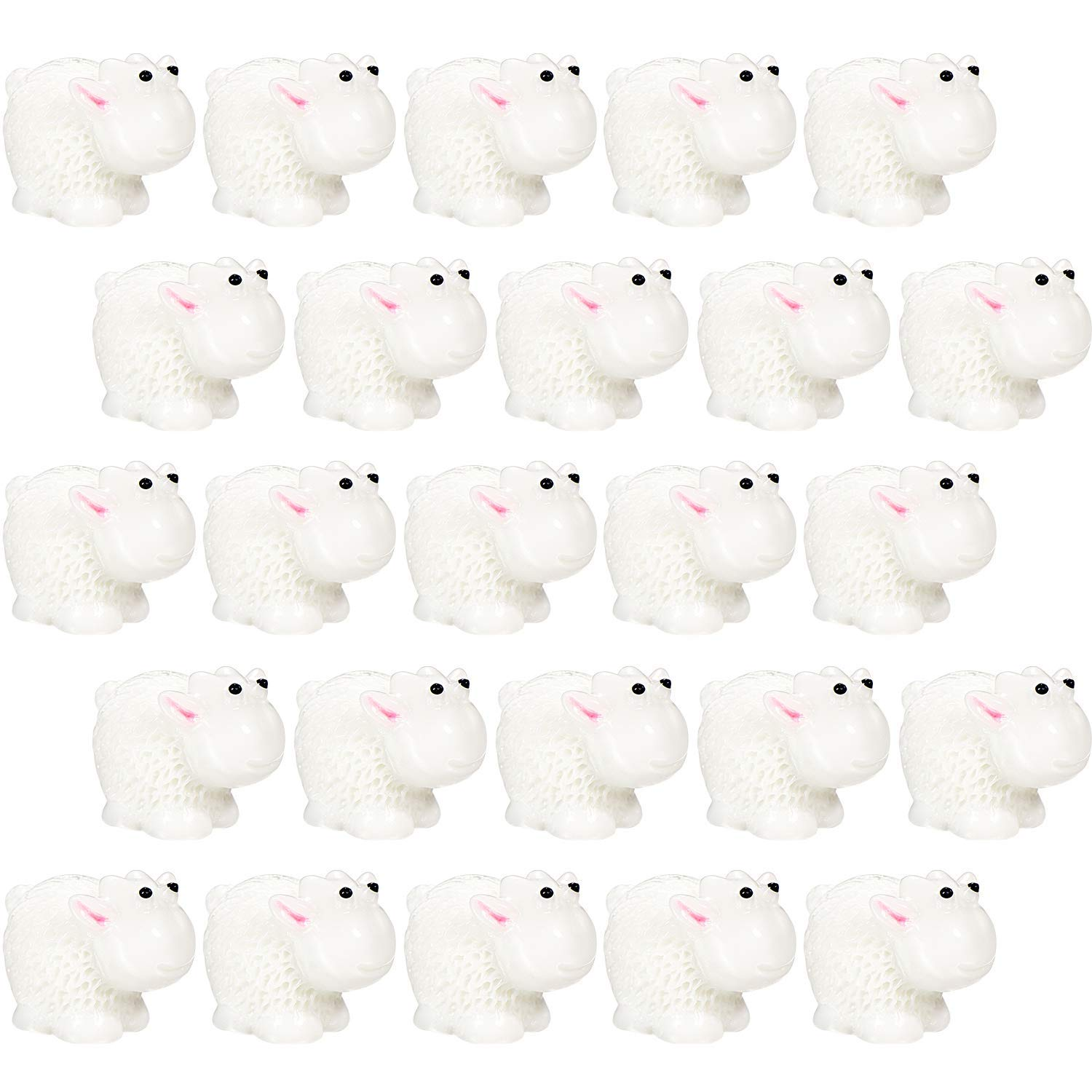 TecUnite 40 Pieces Sheep Slime Charms Crunchy Slime Beads for Ornament Slime DIY Crafts