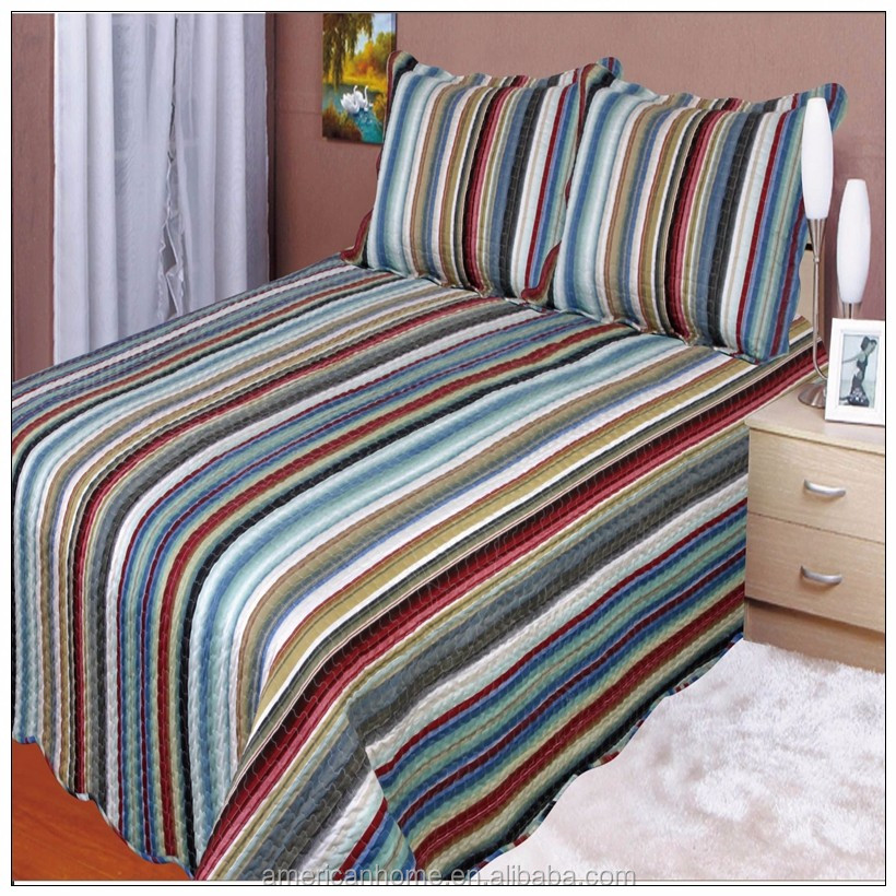 New product Stripe style printing bedspread turkish for sale