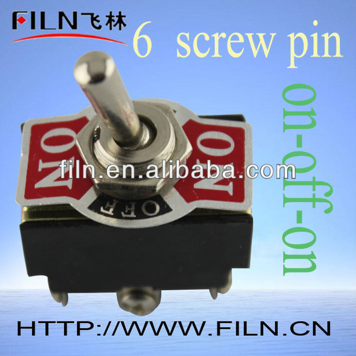 6a 6 Pole 3way On Off On Momentary Toggle Switch Buy Toggle