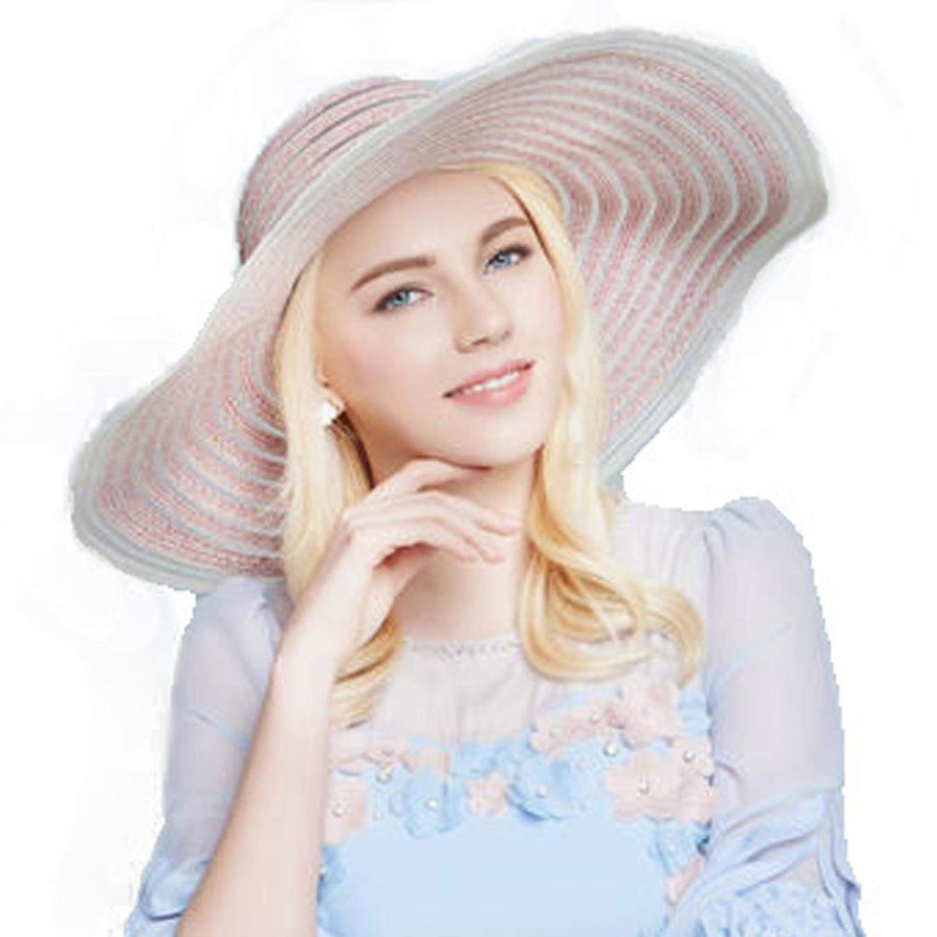 79c56bccb09 Get Quotations · Female Large Brim Floppy Straw Hat for Womens Summer Beach  Sun Hats